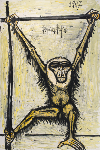 Bernard BUFFET - Painting - Gibbon