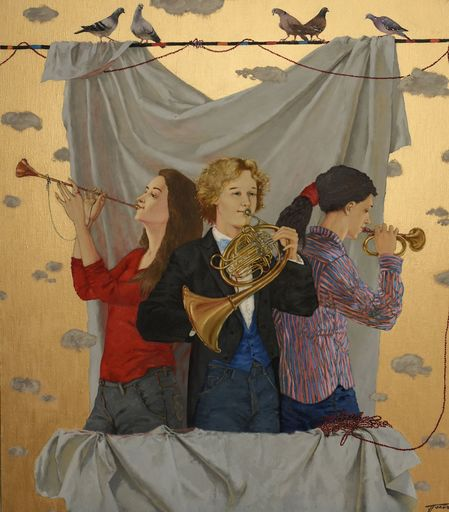 Tatjana PALCUKA - Painting - Trio with French Horn player    (Cat N° 6091)