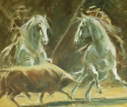 Carmen LANZ - Gemälde - Corridas à chevaux