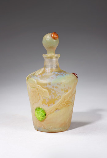 DAUM FRÈRES - Bottle and stopper, circa 1900