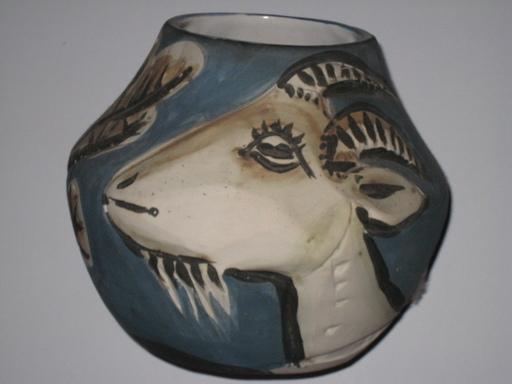 Pablo PICASSO - Keramiken - VASE AUX  CHEVRES