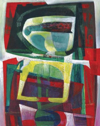 Raul ENMANUEL - Pintura - Formas en rojo y amarillo