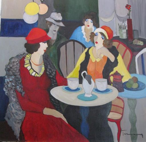 Isaac TARKAY - Pintura - * Meeting at the Cafe