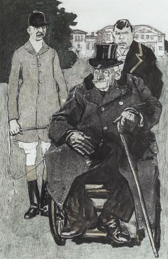Eduard THÖNY - Drawing-Watercolor - Herrenhäusler