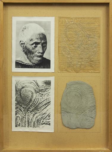 Claudio COSTA - Painting - MODELLI CULTURALI PRIMITIVI , IL VISO TATUATO DEI MAORI