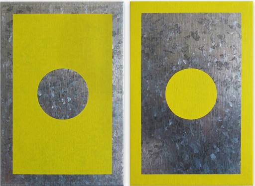 Daniel GÖTTIN - Gemälde - O5A-B, 2018 (Abstract painting)