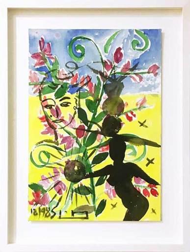Stefan SZCZESNY - Dibujo Acuarela - Shadow and Flowers