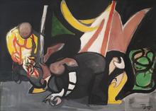 Édouard PIGNON - Pintura - Retour de la pêche, Ostenda 1947