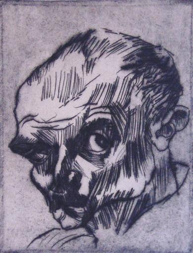Ludwig MEIDNER - Print-Multiple - Self Portrait no. VIII   Selbstbildnis VIII