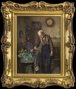 Charles SPENCELAYH - Pittura - The Early Bird