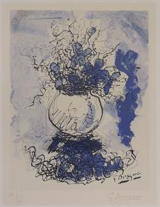 Georges BRAQUE - Stampa-Multiplo - Bouquet de fleurs