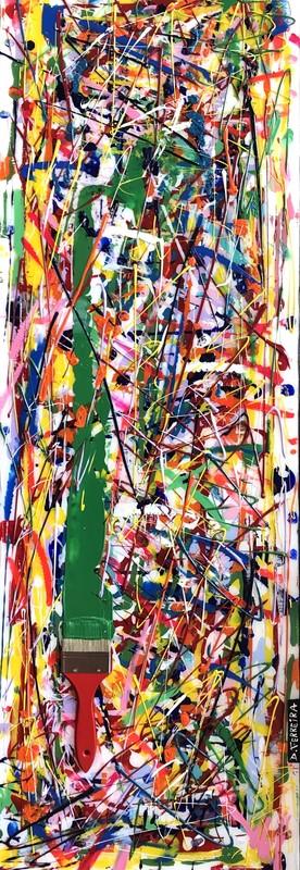 David FERREIRA - Painting - Gribouille