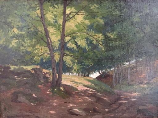 Léon Maxime FAIVRE - Peinture - Sous bois