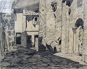 Carlos SOBRINO BUHIGAS - Dibujo Acuarela - RIBADAVIA