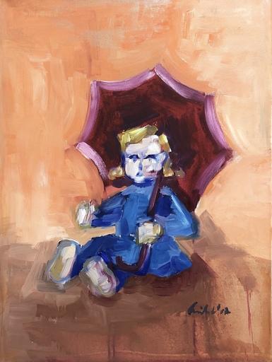 Nicole LEIDENFROST - Gemälde - Puppe mit Schirm