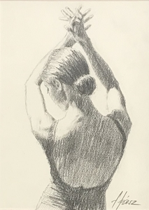Fabian PEREZ - Drawing-Watercolor - Valenciana
