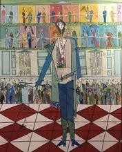 Abraham DAYAN - Painting - Mozart à l'Opera de Vienne