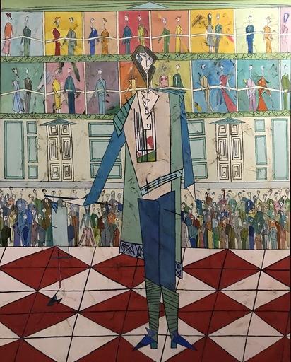 Abraham DAYAN - Peinture - Mozart à l'Opera de Vienne