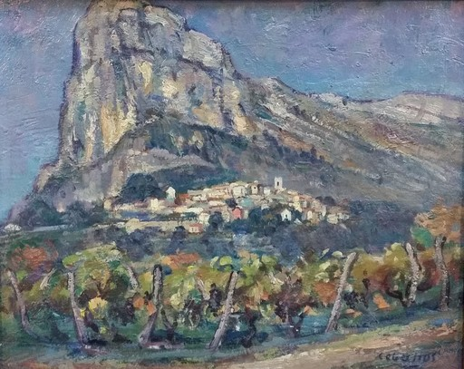 Rufino CEBALLOS - Painting - St. Jeanet