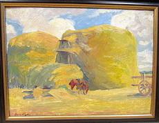 Hans VOGEL - Painting - Sommerliche Heuernte