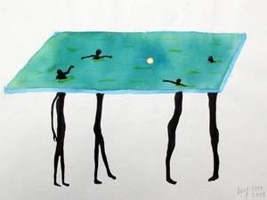 Miguel SANCHO - Dibujo Acuarela - Untitled