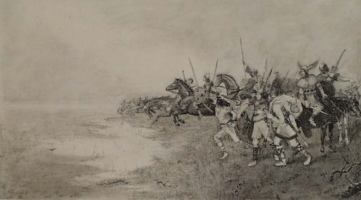 """Karl MEDIZ - 水彩作品 - """"Victors"""" by Karl Mediz, 1892"""