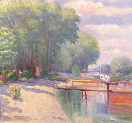 Gennady ZAVIZIONNY - Peinture - Les ombres du lac