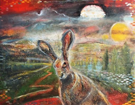 Didier DOIGNON - Pintura - Le lièvre