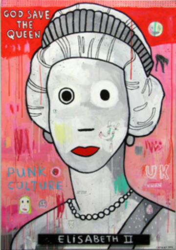 Christophe LAMBERT - Pittura - God save the Queen