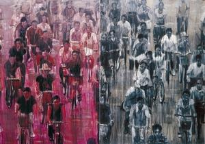 SHENG Qi - Pintura - Bicycles