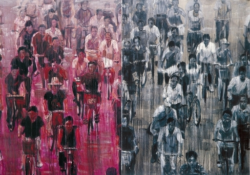 SHENG Qi - Pintura - Bicycles