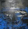 Tony SOULIÉ - Pintura - Abstraction bleue et noire