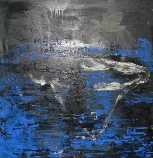 Tony SOULIÉ - Peinture - Abstraction bleue et noire