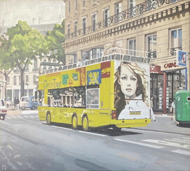 弗朗索瓦•布瓦龙 - 绘画 - Le bus Open-Tour