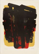 Pierre SOULAGES - Estampe-Multiple - Lithographie n° 8