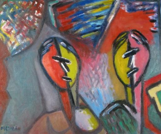 David MESSER - Pintura - Figuers composition