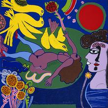 CORNEILLE - Print-Multiple - Femme à la fleur.