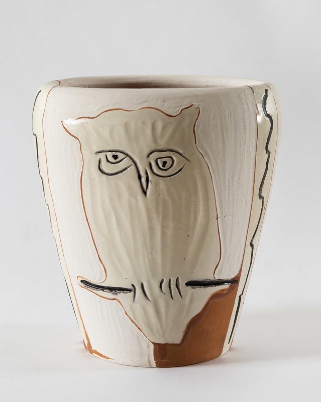 Pablo PICASSO - Ceramiche - Visage et hibou, (A.R.407)