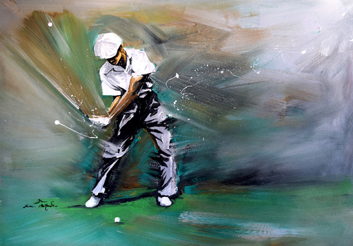 Rémi BERTOCHE - Painting - Golf Classic swing