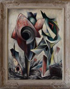 Henri GOETZ - Painting - Mon Coeur Gele