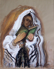 MANÉ-KATZ - Painting - Praying Jew