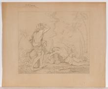 "Carl VON BLAAS - Drawing-Watercolor - ""Biblical Scene"" by Carl von Blaas, middle 19th Century"