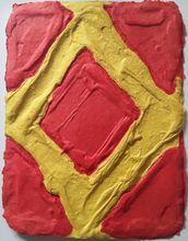 Bram BOGART - Grabado - Yellow in Red
