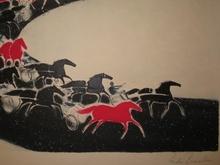 安德烈·布拉吉利 - 版画 - Courses,1991.