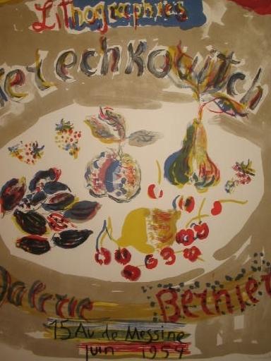 Constantin Andréevitch TERECHKOVITCH - Estampe-Multiple - Nature morte,1954.