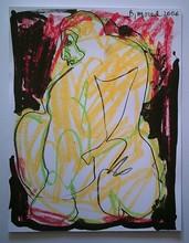Bernard MOREL - Dibujo Acuarela - MODELE