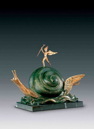 Salvador DALI - Scultura Volume - Snail and the Angel, Escargot et ange