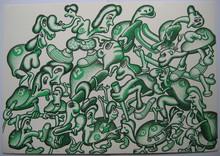 Peter SAUL - Print-Multiple - LITHOGRAPHIE SIGNÉE AU CRAYON NUM/250 HANDSIGNED LITHOGRAPH
