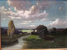Josef MÜHLBECK - Painting - Gewitterstimmung