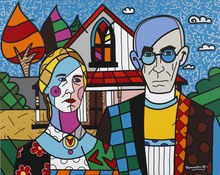 Romero BRITTO - Peinture - Americana